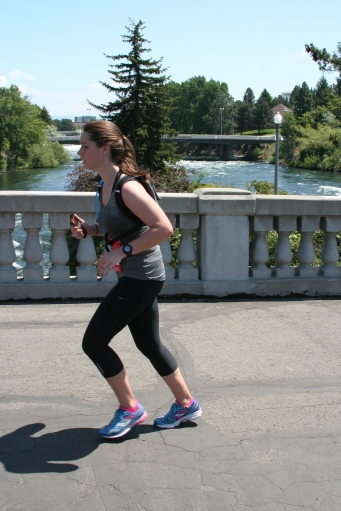 This was during the last mile of my marathon. I look just about as miserable as I felt.